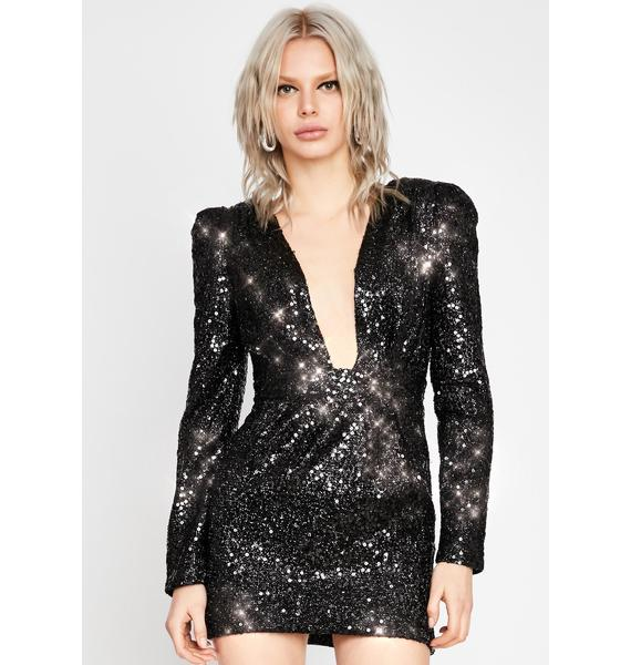 Night Bottle Service Sequin Dress
