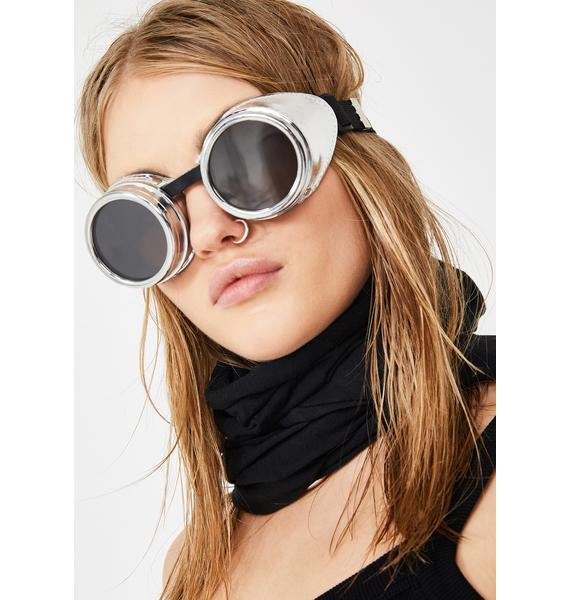 Spaced Out Metallic Goggles