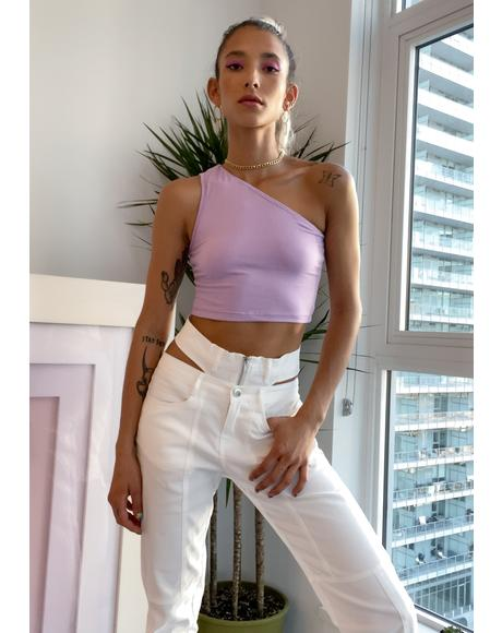 Lilac Keeping It Cute Crop Tank