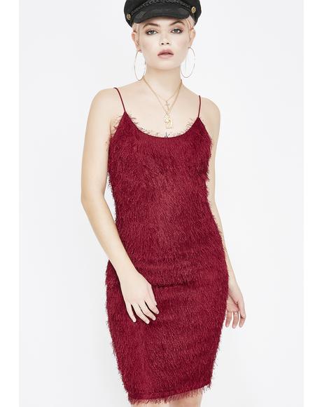 Wine Pick Me Up Fuzzy Dress