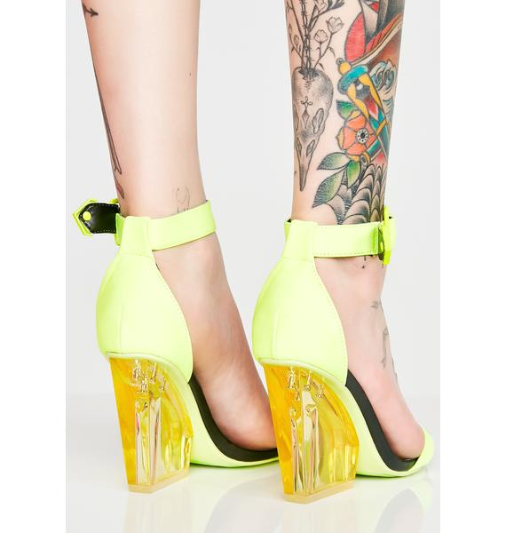 Atomic Hazard Clear Block Heels