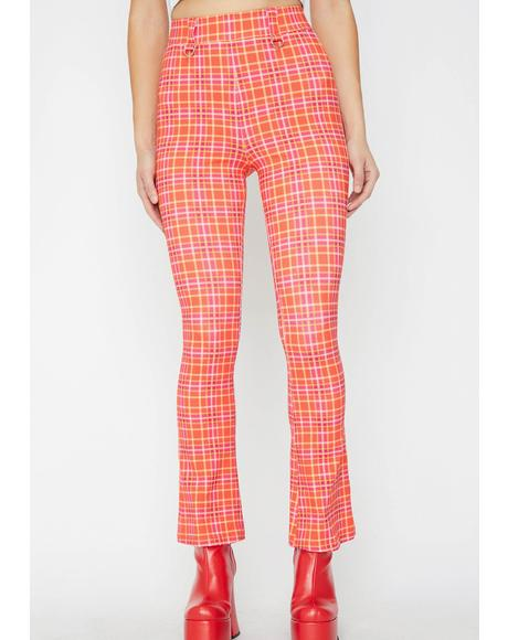 Driving Miss Crazy Plaid Pants