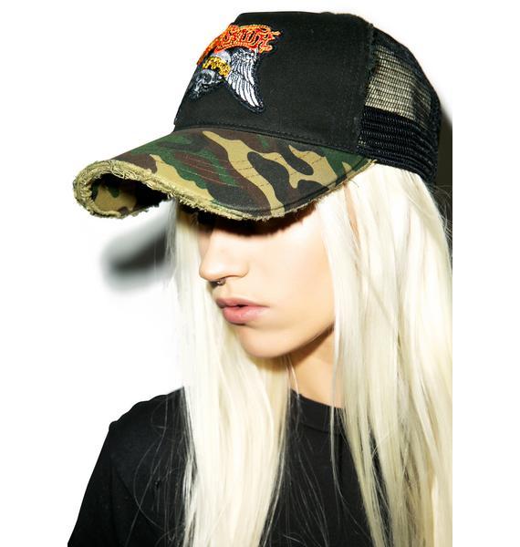 Lauren Moshi Aerosmith Camo Baseball Hat