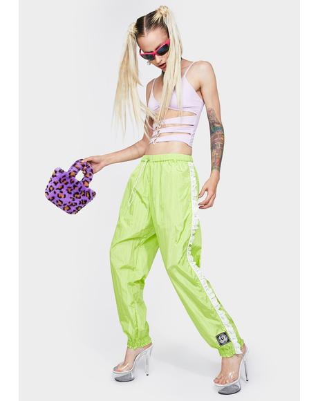 Nylon Girly Track Pants