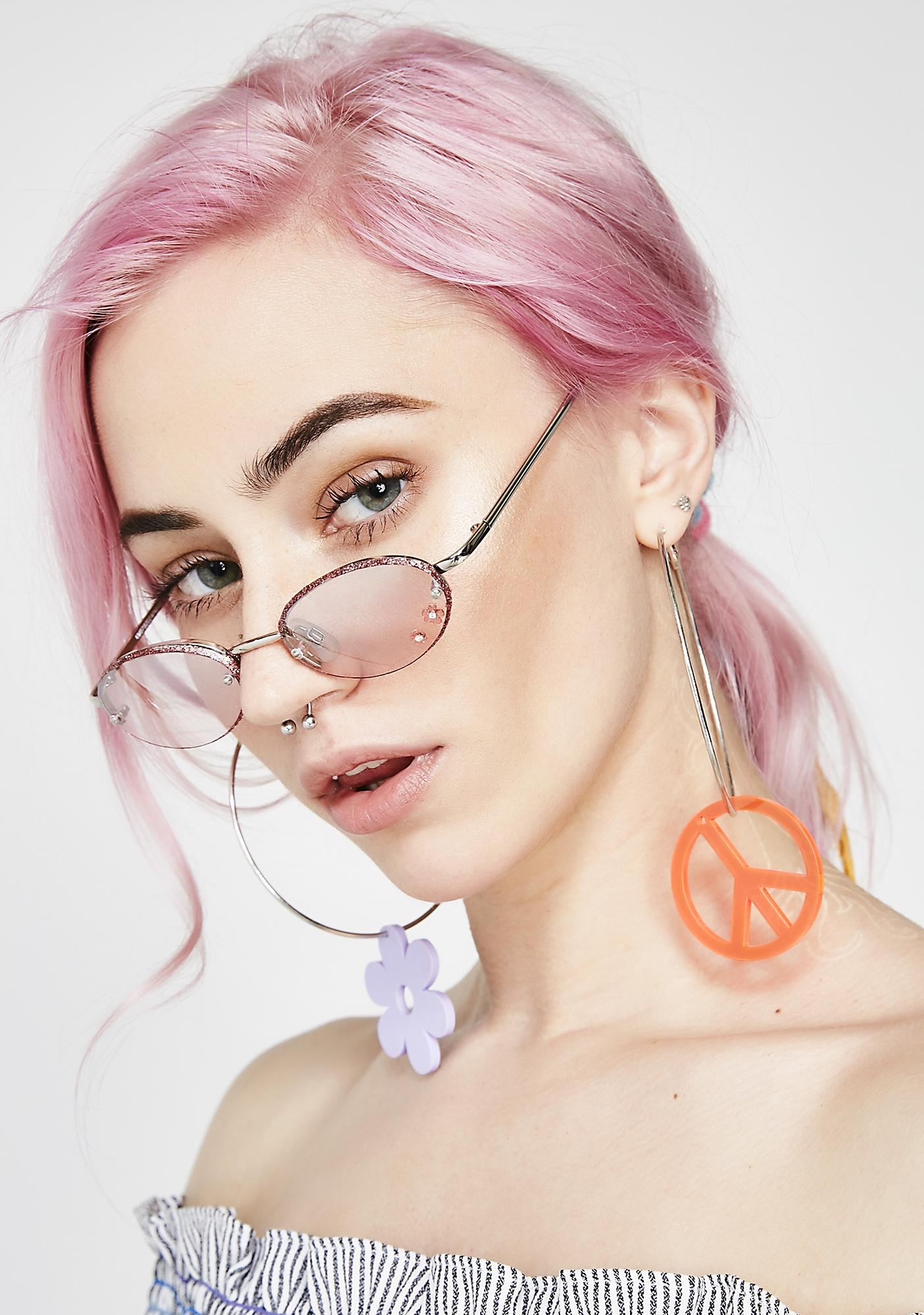 Just A Girl Flower Sunglasses
