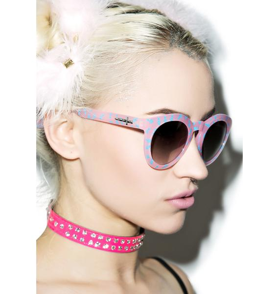 Crap Eyewear The Cotton Candy T.V. Eye Sunglasses