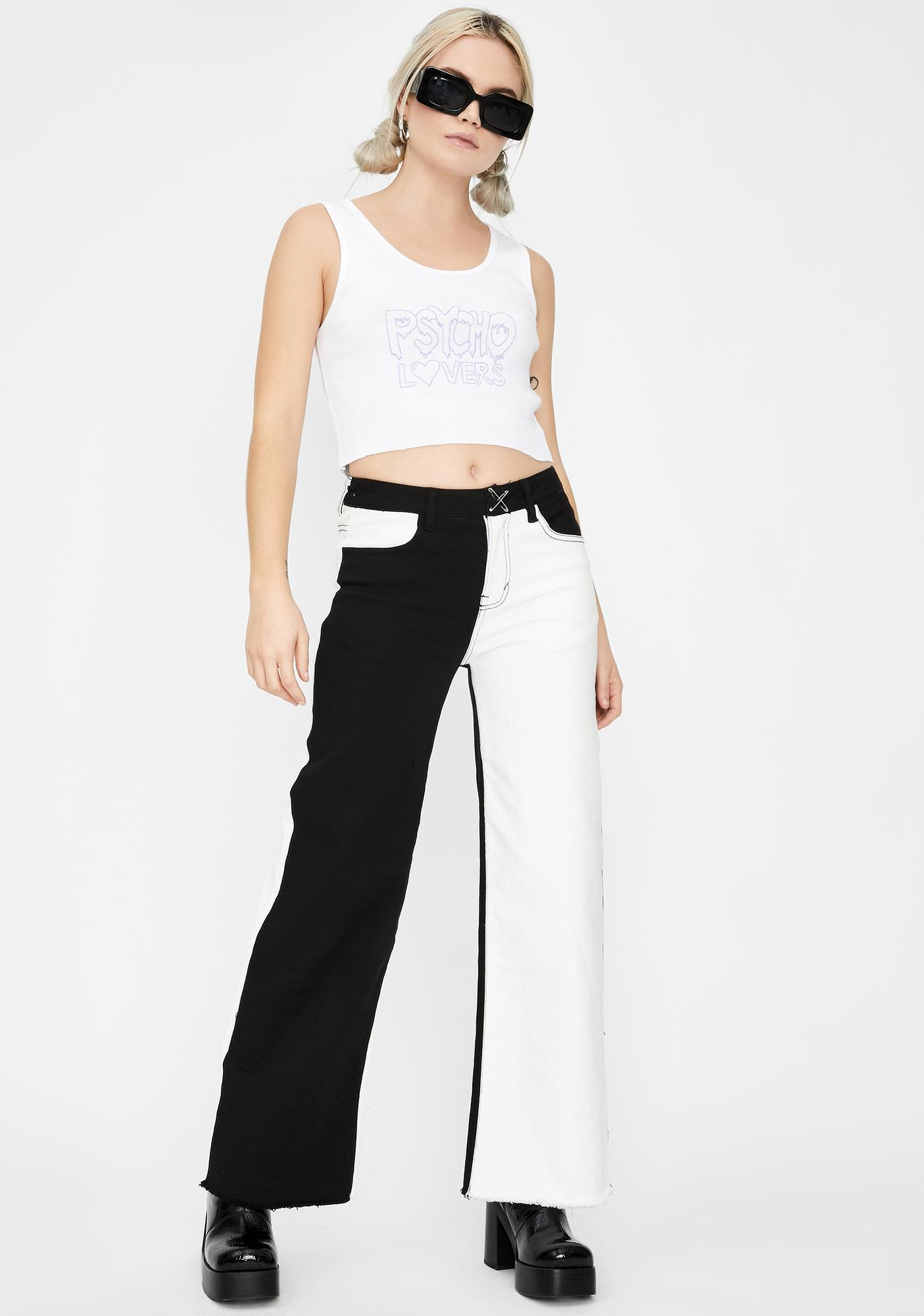 not another label Lovers Cropped Graphic Tank