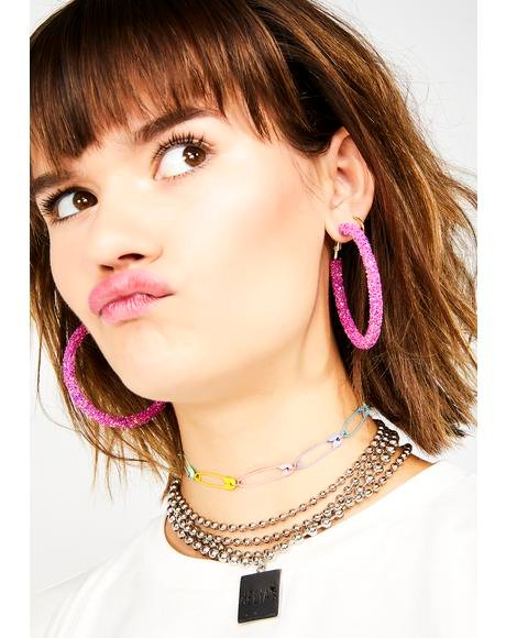 Glitta Gal Hoop Earrings
