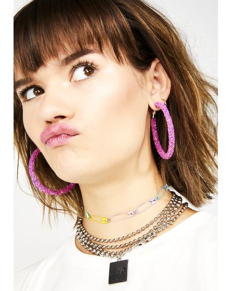 Glitta Gal Hoop Earrings
