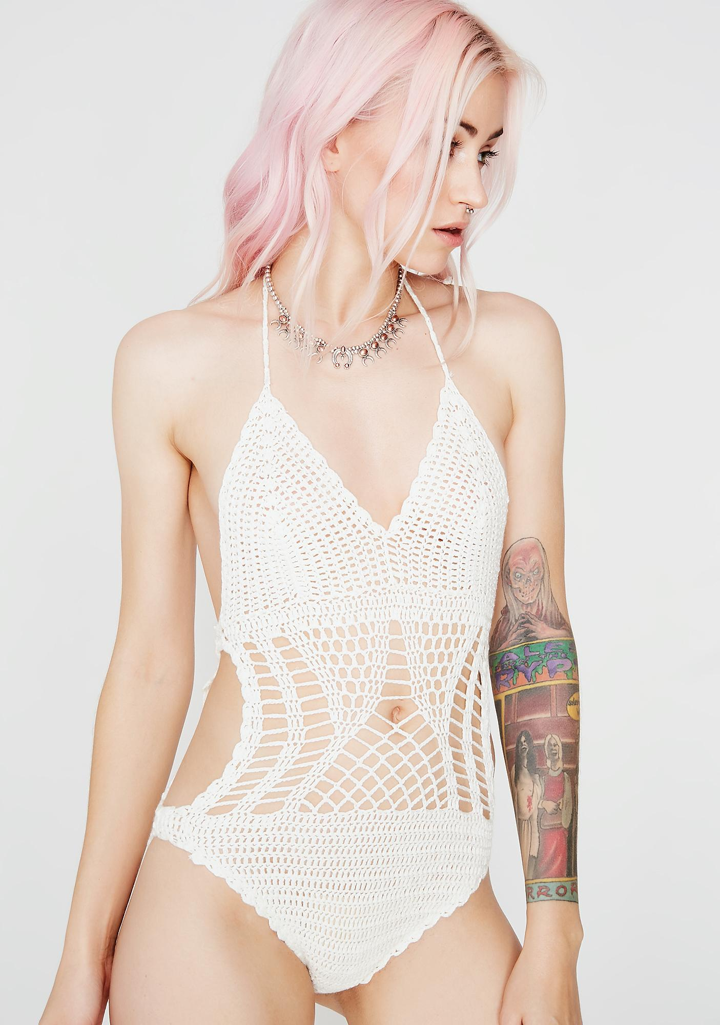 Icy Life Breezy Crochet Bodysuit