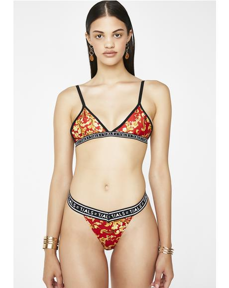 Baroque Fire Simple Bra
