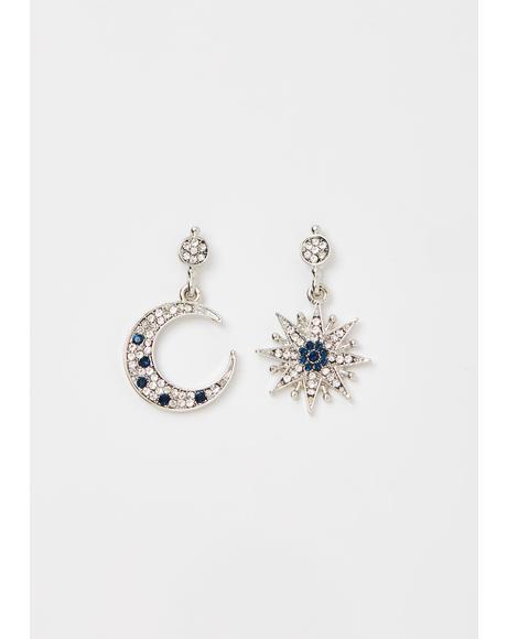 Cosmic Sass Rhinestone Earrings