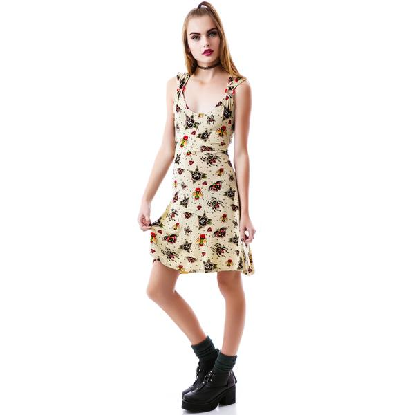 Sourpuss Clothing You're Bugging Me Dress