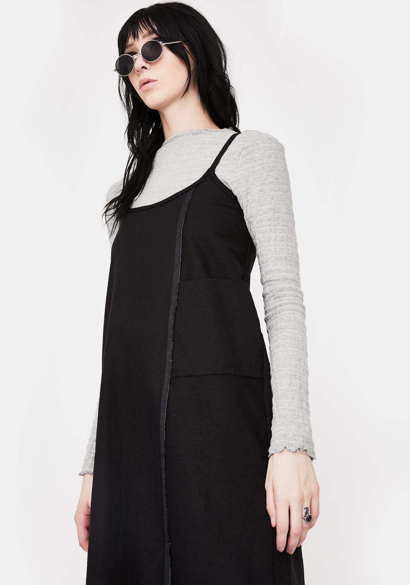 NOCTEX Grey Ripl Long Sleeve Top