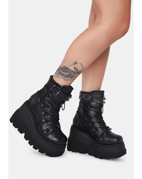 Combat Technopagan Platform Boots