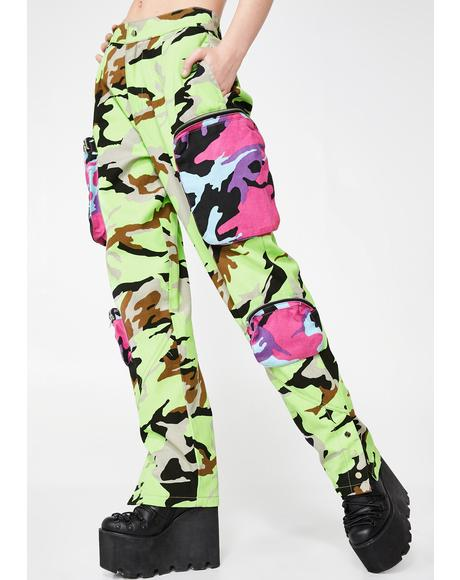 Neon Utility Combat Pants