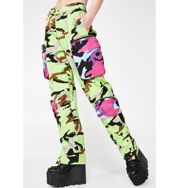 Jaded London Neon Utility Combat Pants