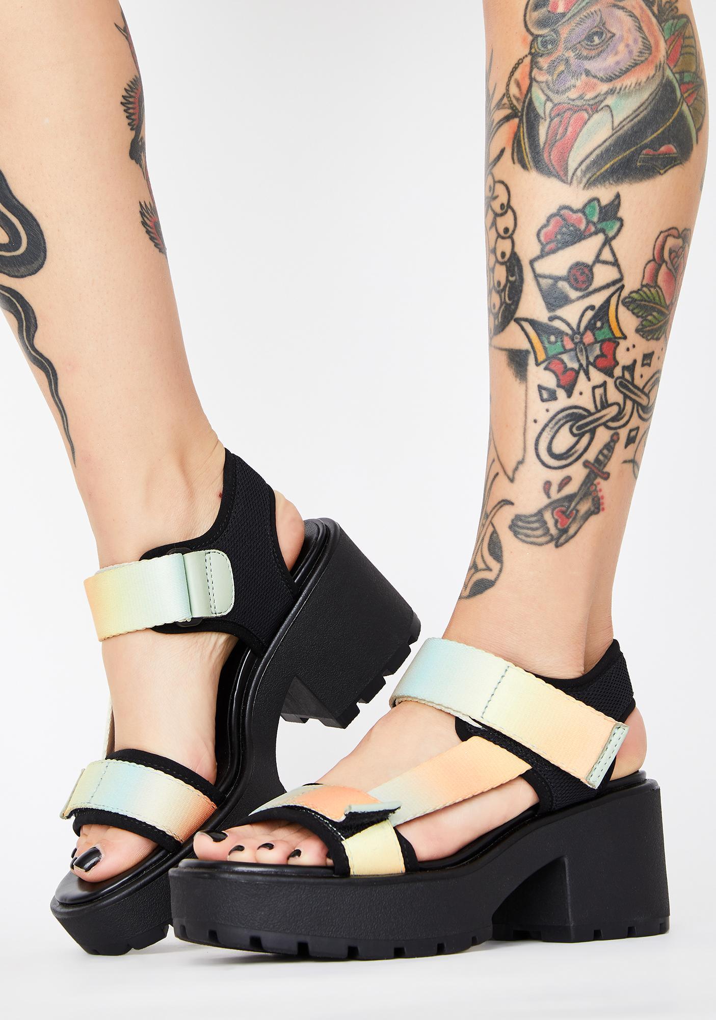 VAGABOND SHOEMAKERS Pastel Multi Textile Dioon Platform Sandals