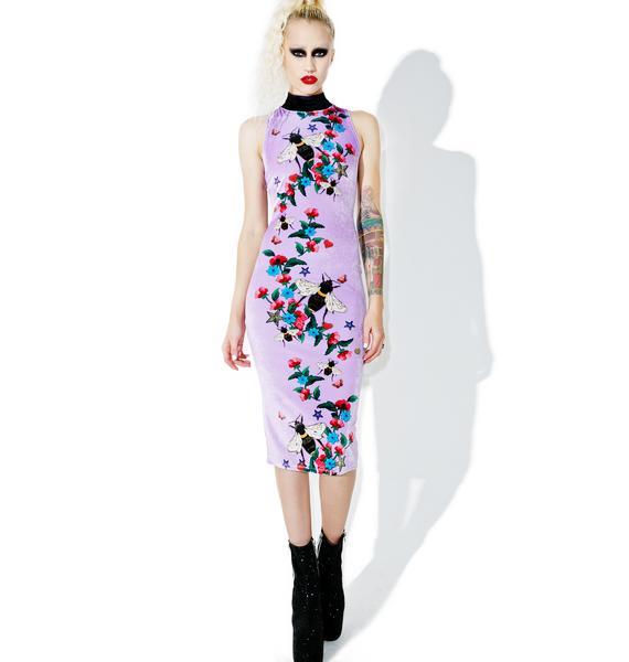 Jaded London Column High Neck Midi Dress