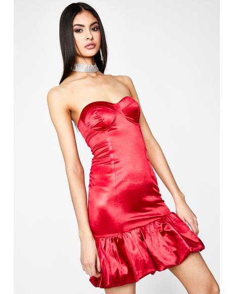 Late Night Date Satin Dress