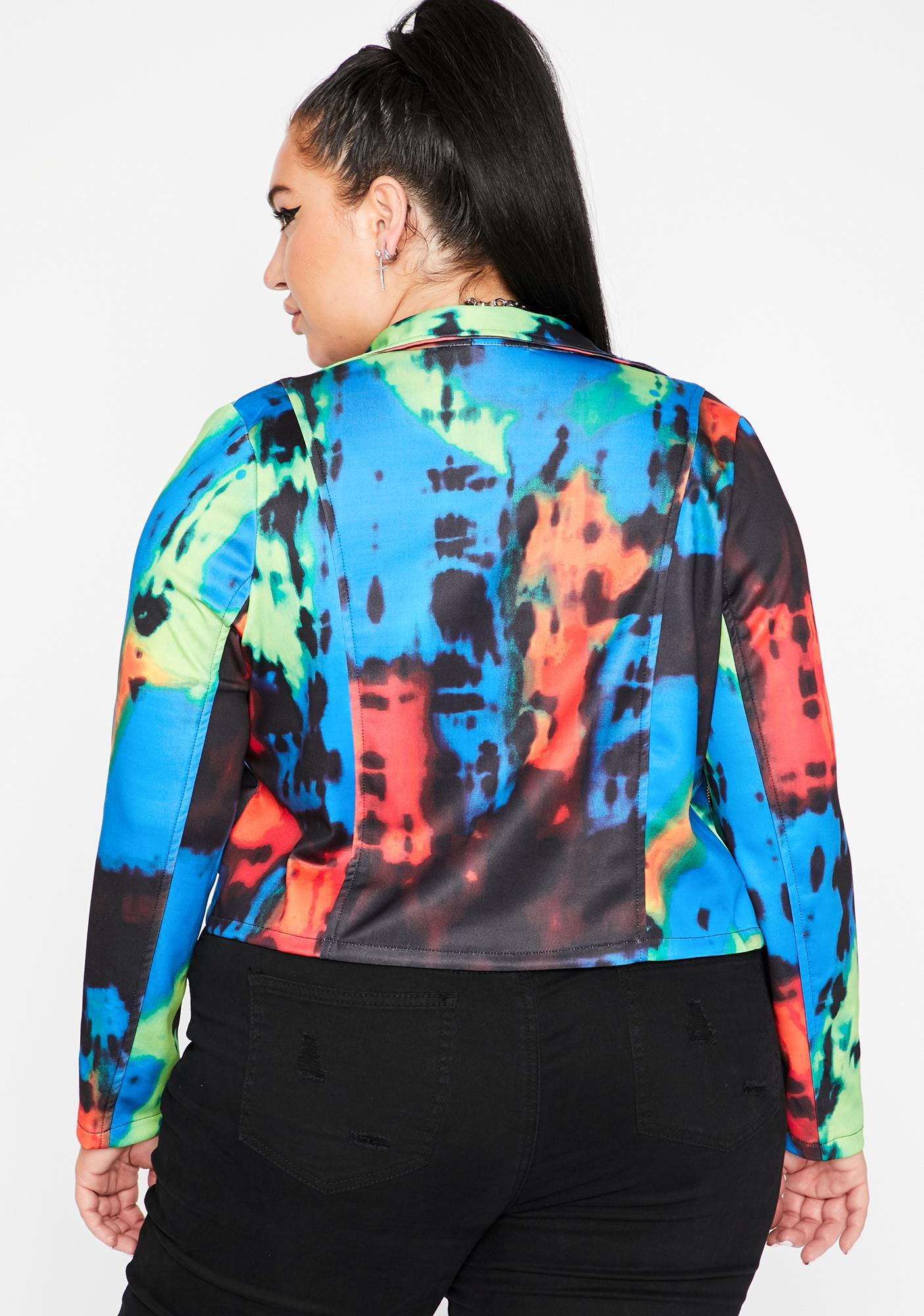 Dark That Funky Grl Moto Jacket