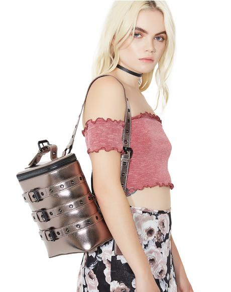 Metallic Buckle Down Backpack