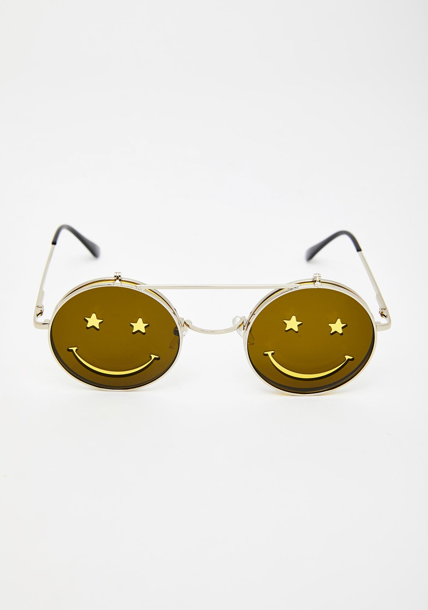 Crazed Daze Smiley Sunglasses