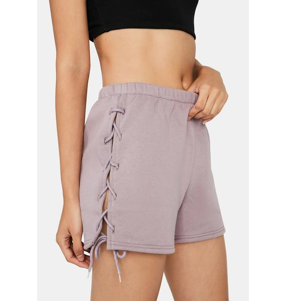 Mauve Lay It On The Line Lounge Shorts