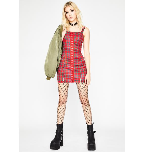 Devilish Feisty Crush Plaid Dress