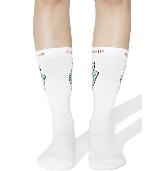 RIPNDIP Nermal Leaf Socks