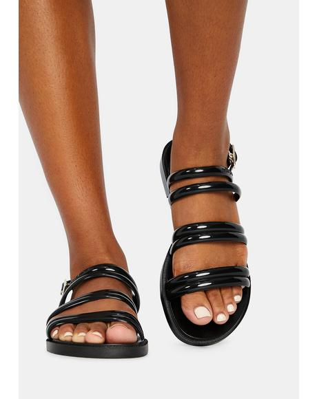 Black Rio Jelly Sandals