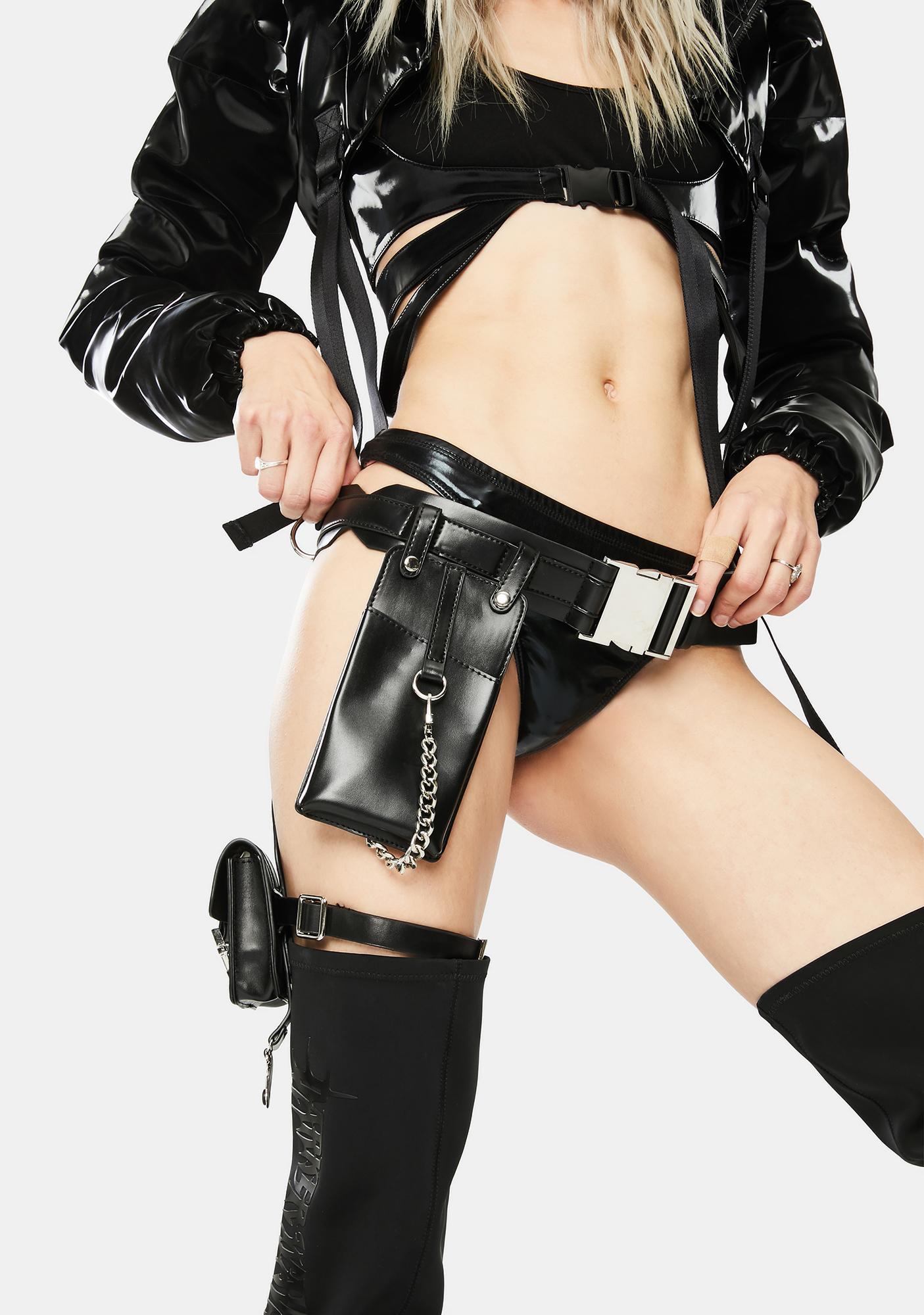Poster Grl Taking Names Garter Belt Bag