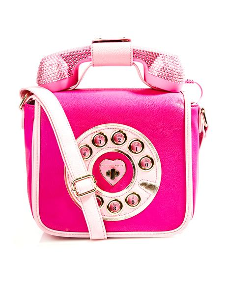 Pouty Hotline Crossbody Bag