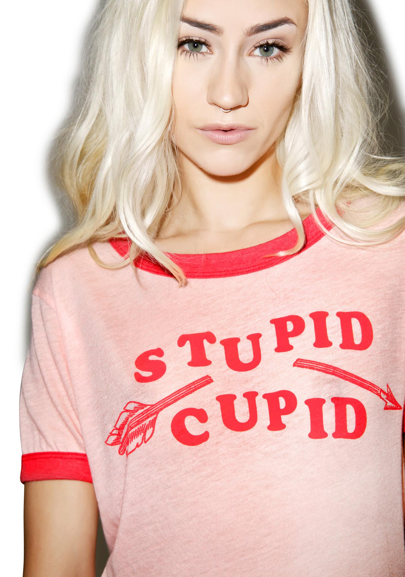 Wildfox Couture Stupid Cupid Vintage Ringer Tee