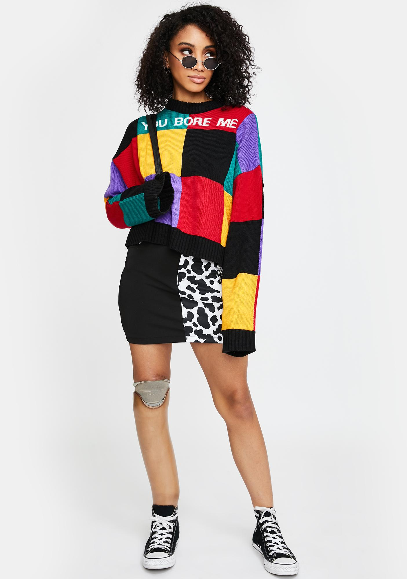 The Ragged Priest Bore Colorblock Knit Sweater