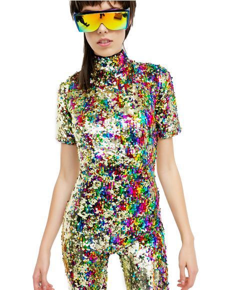 Rainbow Sequin Jumpsuit