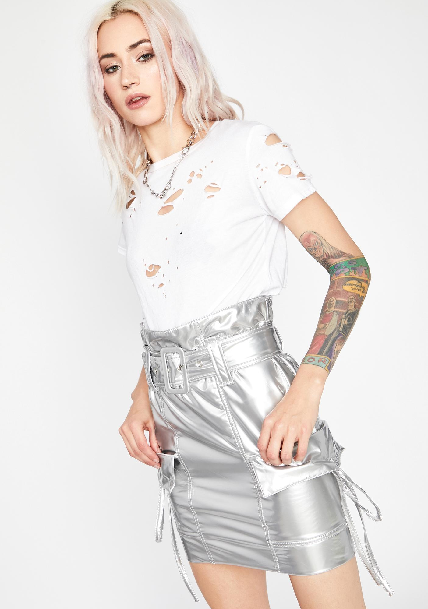 Shook Paparazzi Moment Mini Skirt