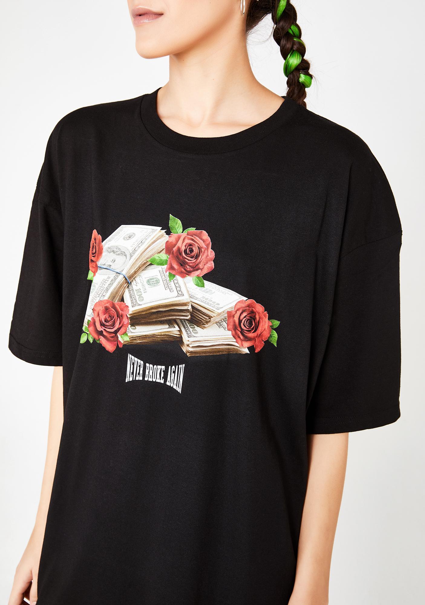 Never Broke Again Rose Stack T-Shirt