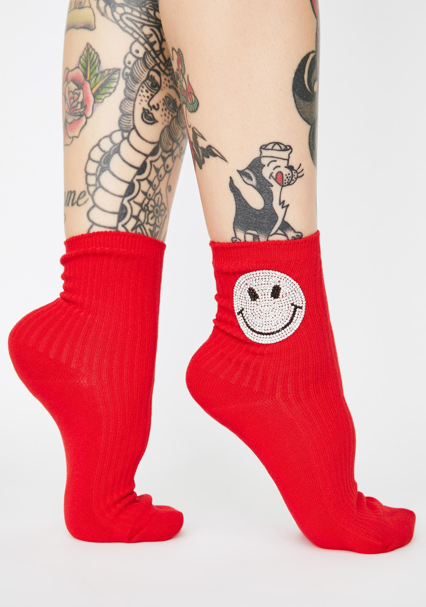Ear To Ear Smiley Face Socks