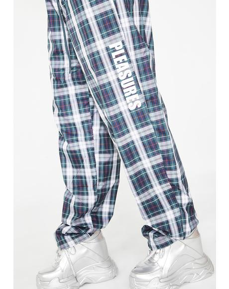 Plaid Athletic Wind Pants