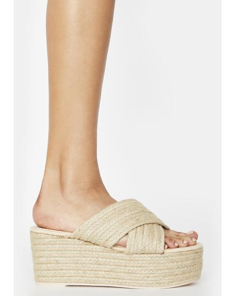 Natural Breeze Platform Sandals