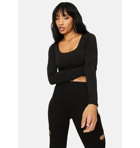Command Attention Square Neck Crop Top