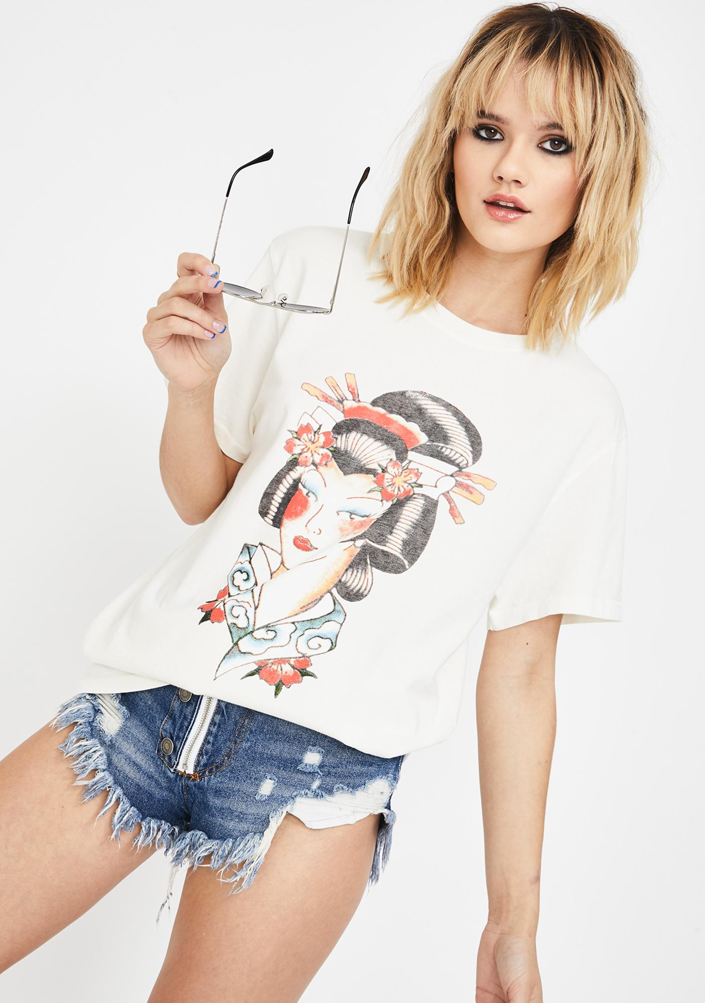 Ed Hardy Painted Lady Graphic Tee