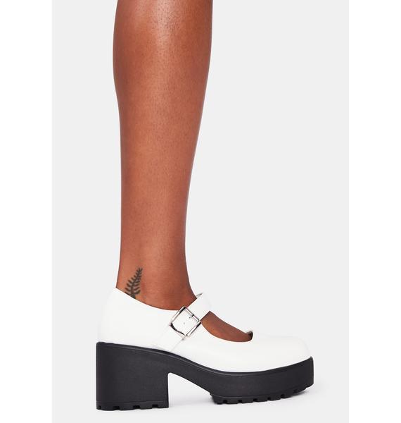Koi Footwear White Tira Mary Janes