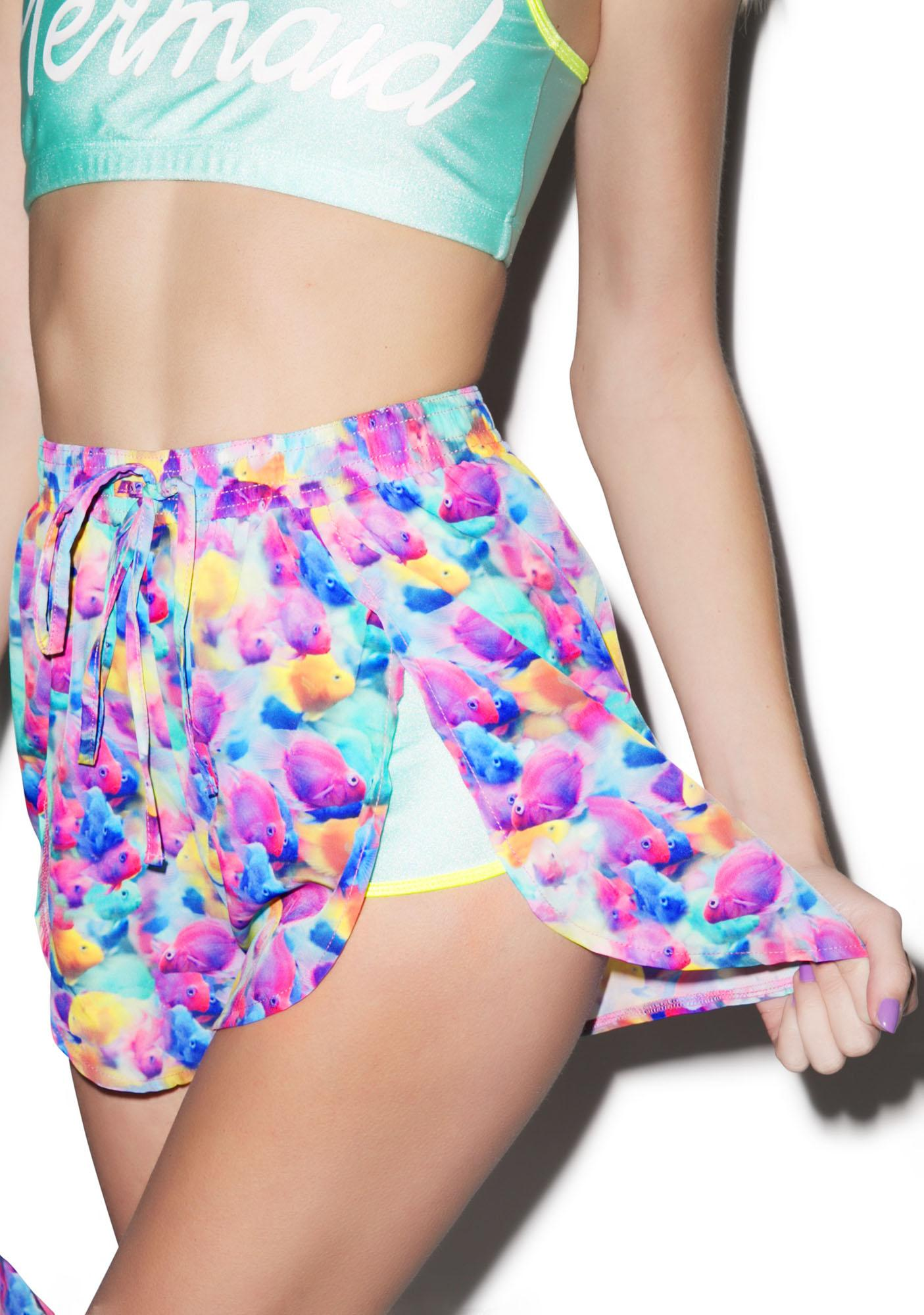 Hot!MeSS Under The Sea Chiffon Scallop Shorts