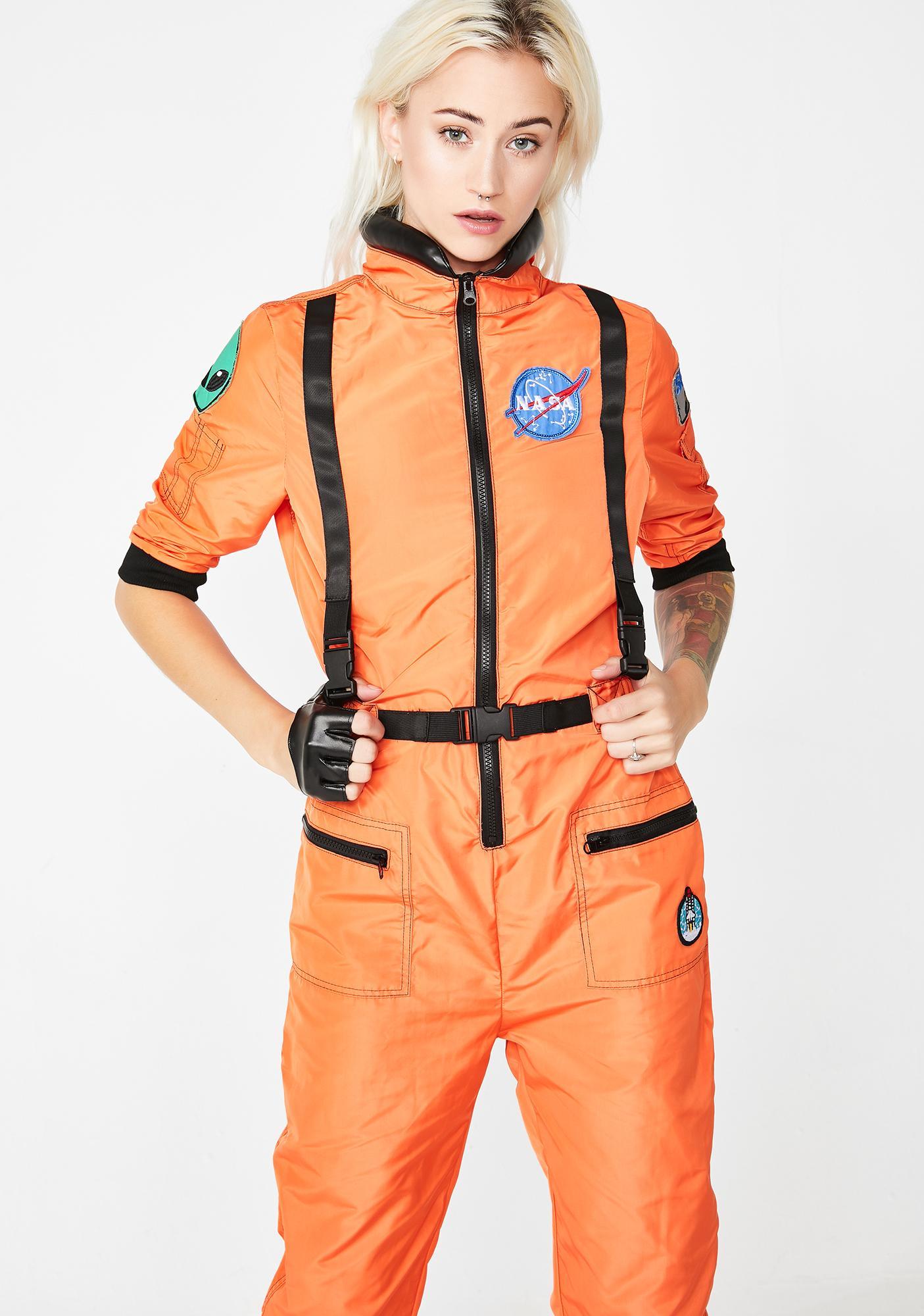 c2a5db4fc90 Orange NASA Spacesuit Jumpsuit Costume