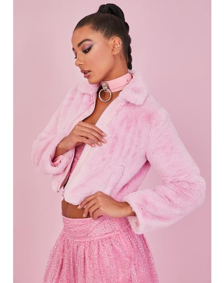 Sweet Cupid's Fool Faux Fur Jacket