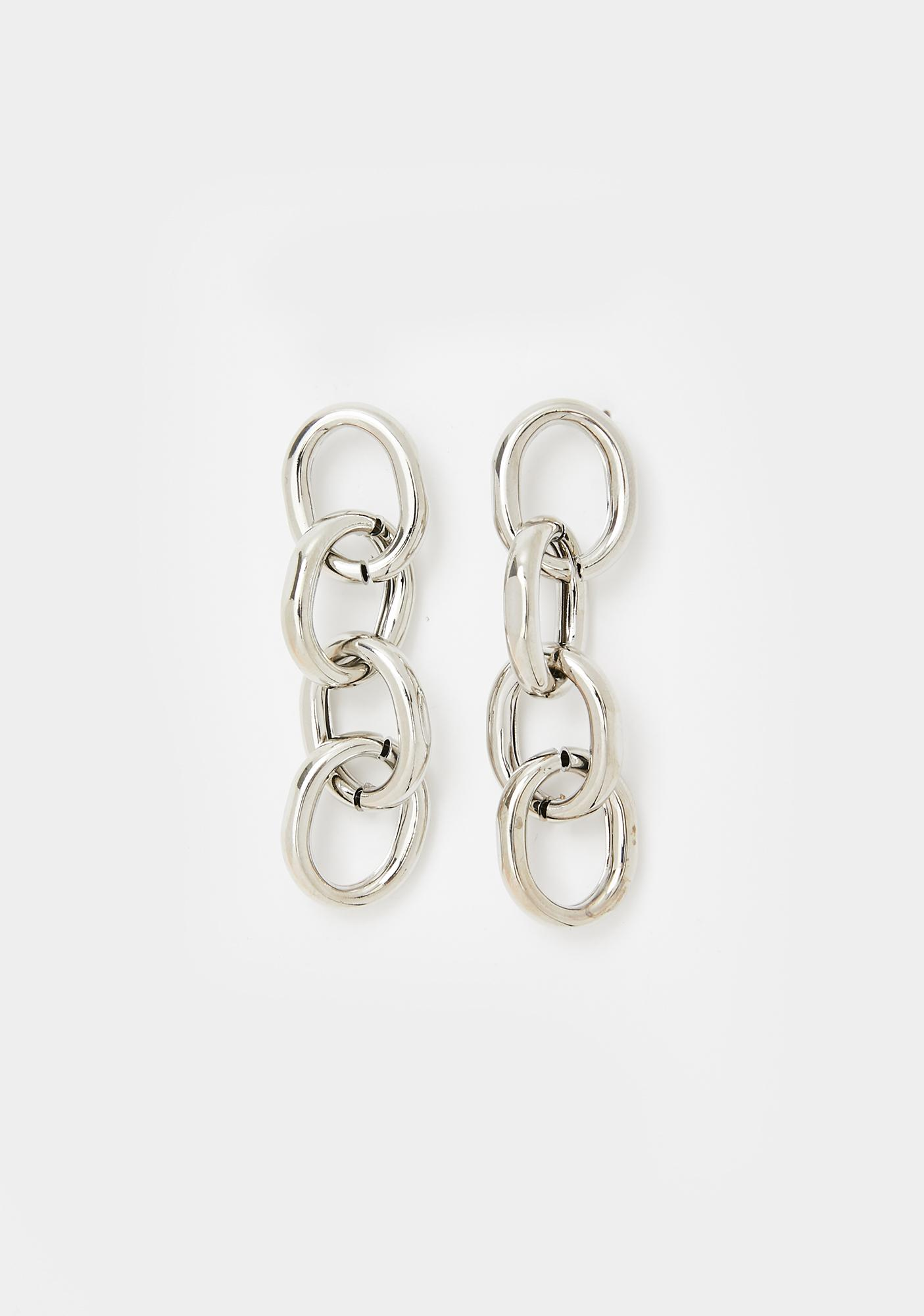 Subtle Attraction Chain Earrings