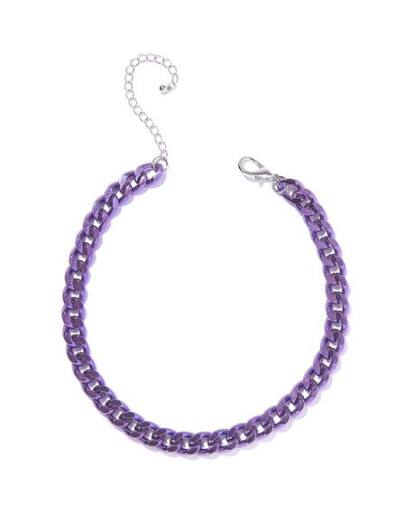 Violet Icy Chill Chain Choker