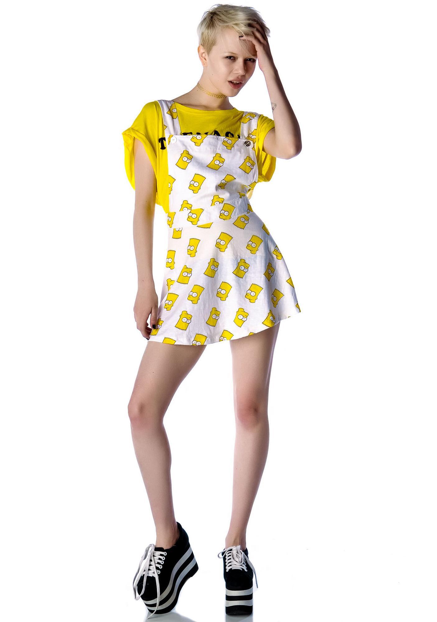 O Mighty Bart Pinafore Dress